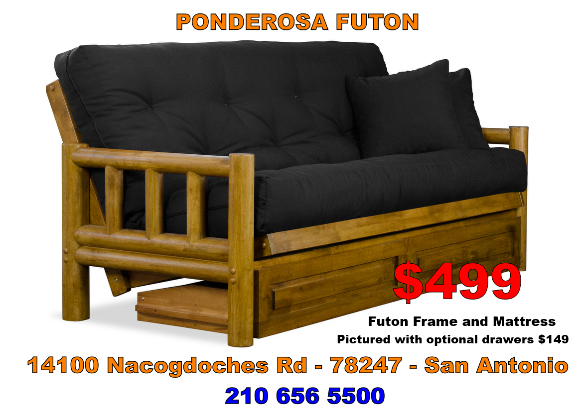 The Ponderosa Futon Comes A Medium Oak Finish Up Nicely With Western Or Southwest Design Cover We Ve Packaged It Mattress