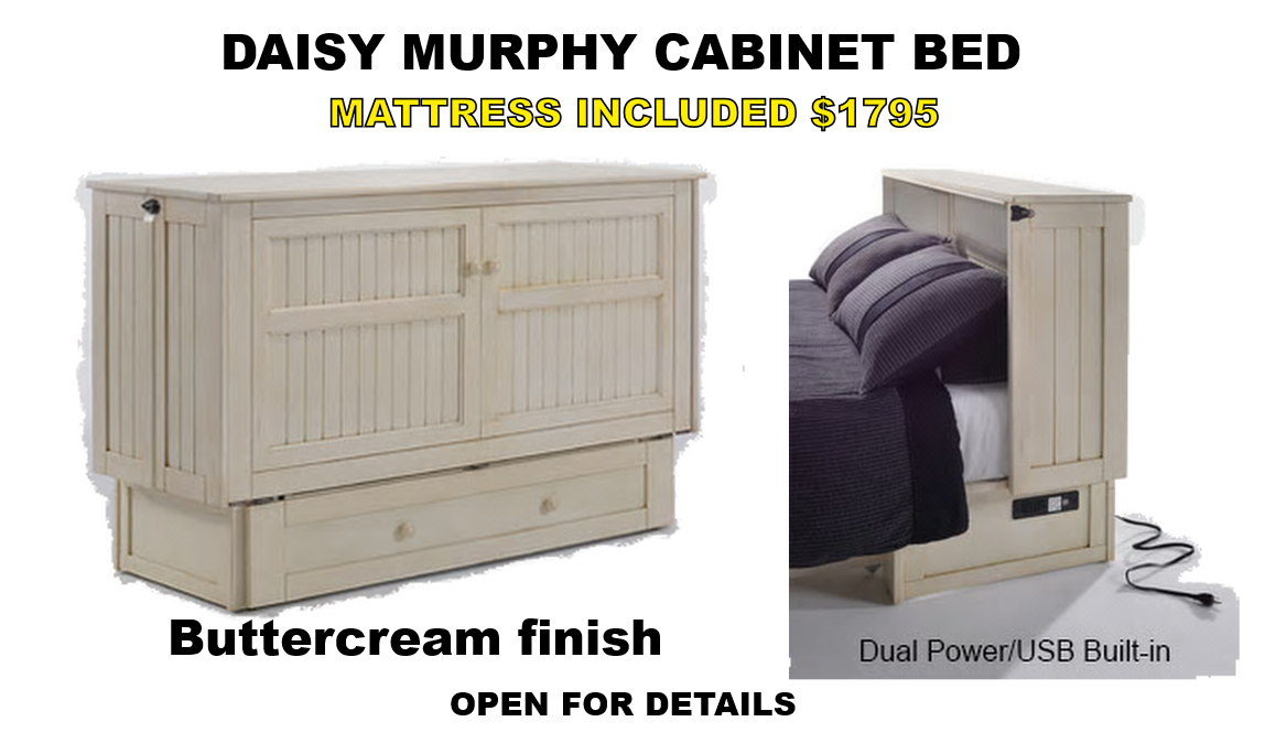 Optional White Glove Service Available If Needed Shown Here In Ercream Finish The Daisy Murphy Cabinet Bed